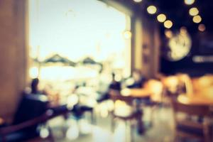 Interior de cafetería desenfocado abstracto para el fondo