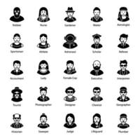 Professional and Business Avatars vector