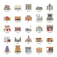 Commercial Buildings Exterior vector