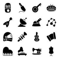 vector de música, espacio y costura para proyecto infantil.