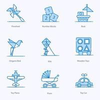 juguetes y niñez vector