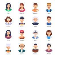 Job and Profession Avatars vector