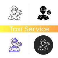 Verified drivers icon vector
