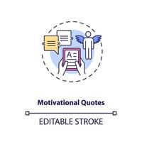icono de concepto de citas motivacionales vector