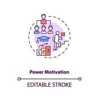 icono de concepto de motivación de poder vector