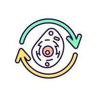 icono de color rgb de regeneración celular