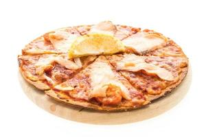 pizza con salmón ahumado foto