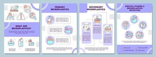 Microplastics brochure template. vector