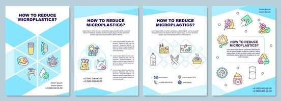 How to reduce microplastic brochure template vector