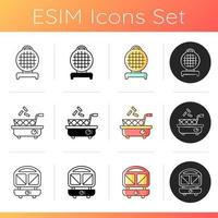 Small kitchen appliance icons set. vector