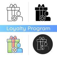 Purchase bonus for registering on website or application icon vector