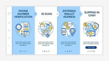 Safe use of gadgets and applications onboarding vector template