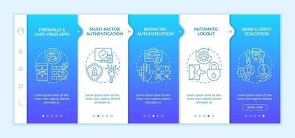 plantilla de vector de incorporación de autenticación multifactor