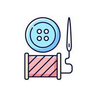 botón de reparación y reemplazo icono de color rgb vector