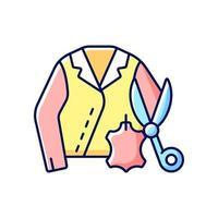 icono de color rgb de reparación de cuero y gamuza vector