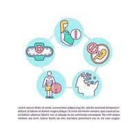 Precautions for taking diet concept icon with text