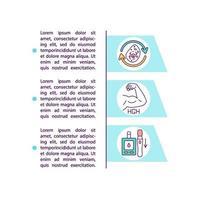 Icono de concepto de beneficios de ayuno intermitente con texto