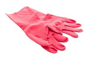 Rubber glove isolated on white