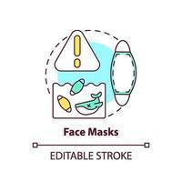 icono de concepto de máscaras faciales vector