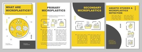 Primary microplastics brochure template vector