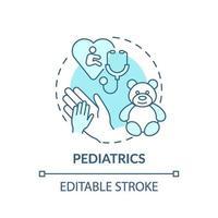 icono de concepto azul de pediatría vector