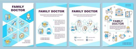 Family doctor brochure template vector