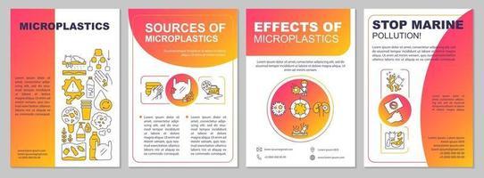 Sources of plastic brochure template vector