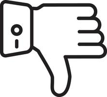 Line icon for thumbs down vector