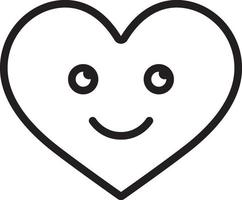 icono de línea para el amor vector