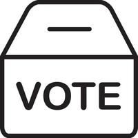 Line icon for polling