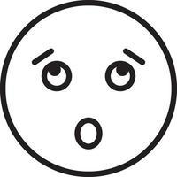 icono de línea para sorprendido vector