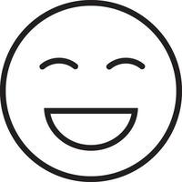 Line icon for laugh vector