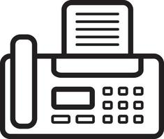 icono de línea para fax vector