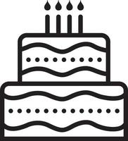Line icon for cake vector