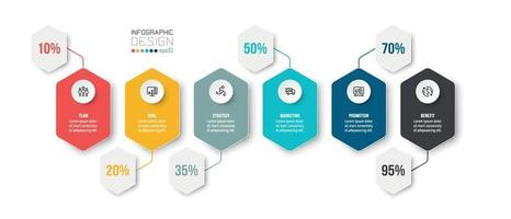 plantilla de infografía de negocios o marketing. vector
