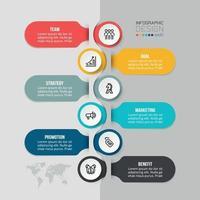 Plantilla de infografía empresarial de gráfico de línea de tiempo. vector