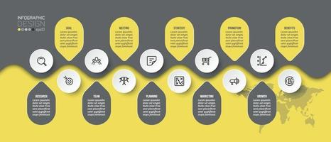Business or marketing infographic template. vector