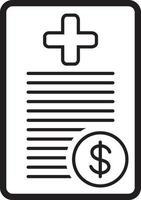 icono de línea de seguro vector