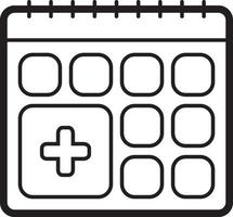 Line icon for appointment vector