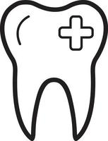 icono de línea para dental vector