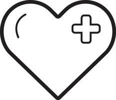 icono de línea de corazón vector