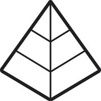 Line icon for pyramid vector