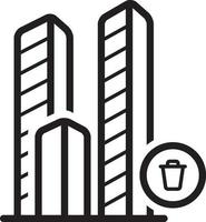 Line icon for building vector