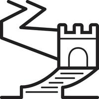 Line icon for great wall vector