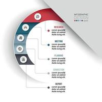 Business or marketing diagram infographic template. vector