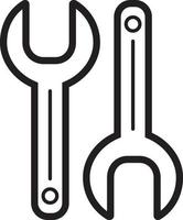 Line icon for spanner vector