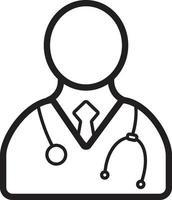 icono de línea para doctor vector