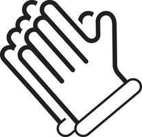 icono de línea para guantes vector