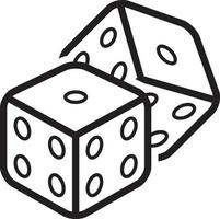 Line icon for dice vector