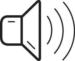 icono de línea para volumen vector